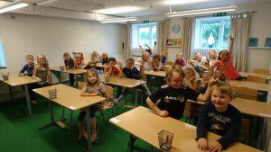 pingviner i klassrummet